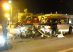 Crash at the intersection of Klerx Avenue and North Main Street.