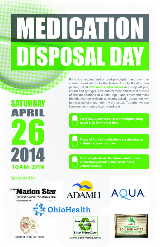 day offers safe way to dispose of unused medications