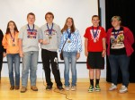 1st place team winners in the 2014 Marion Middle School Math Challenge from Highland Middle School: Caleb Dodds, Sarah Cooley, Andy Cooley, Autumn Parsons, Gavin Kafka, and Sophia Thompson