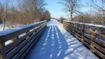 Snow covered Tallgrass Trail