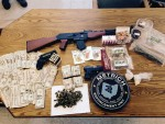 Items seized at 363 Executive Drive, Apt N