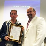 Keith Severns, EMS Coordinator, OhioHealth Marion General Hospital presenting an official Proclamation of Celebration of EMS Week which was accepted by EMS Medical Director Dr. Larry Lewis.