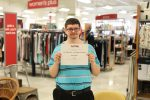 Mason with his three-year employment recognition from TJ Maxx.