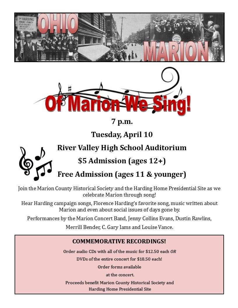 Of Marion We Sing!