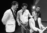 One Night In Memphis Pictured left to right is Blair Carmen as Jerry Lee Lewis, John Mueller as Carl Perkins, Brandon Bennet as Elvis Presley, and Shawn Barker as Johnny Cash.