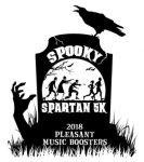 Pleasant Music Boosters holding Spooky Spartan 5K